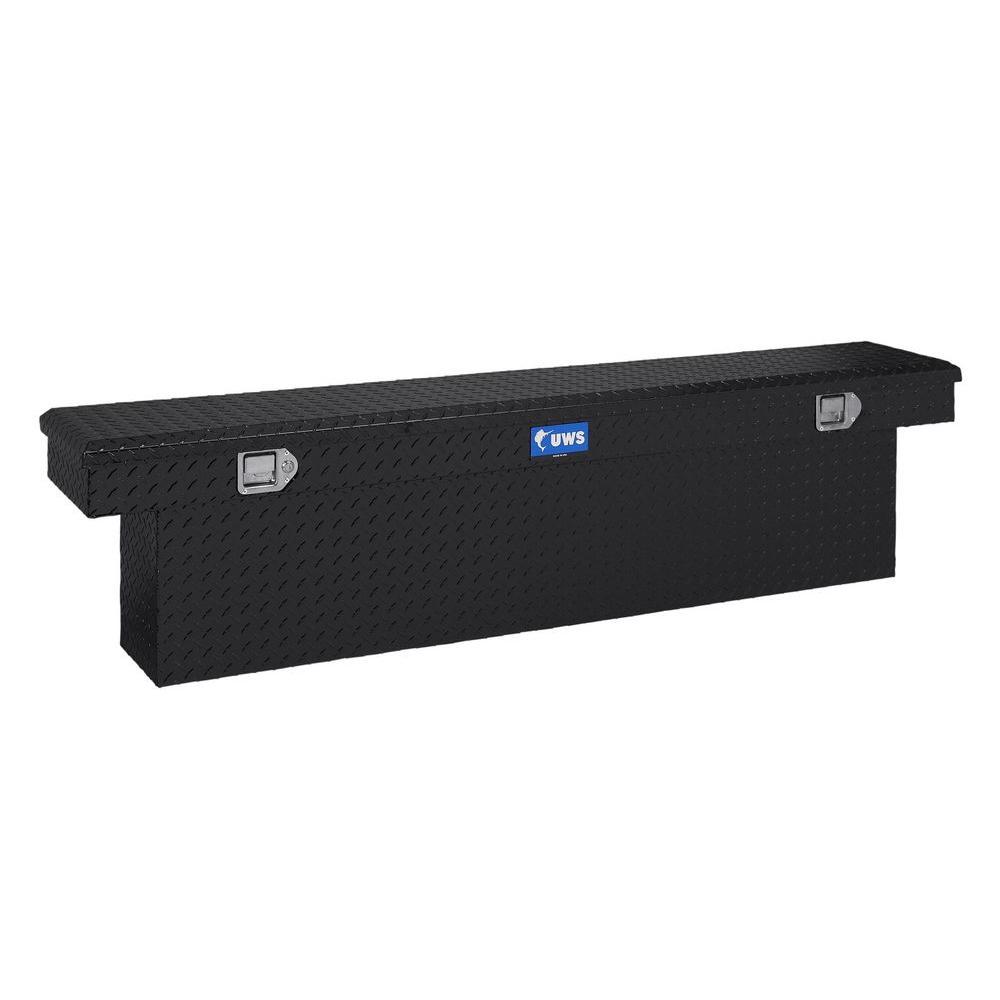 72 in. Aluminum Black Single Lid Crossover Slim Line Deep Tool Box