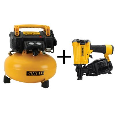6 Gal. Electric Air Compressor with Bonus Pneumatic Roofing Nailer