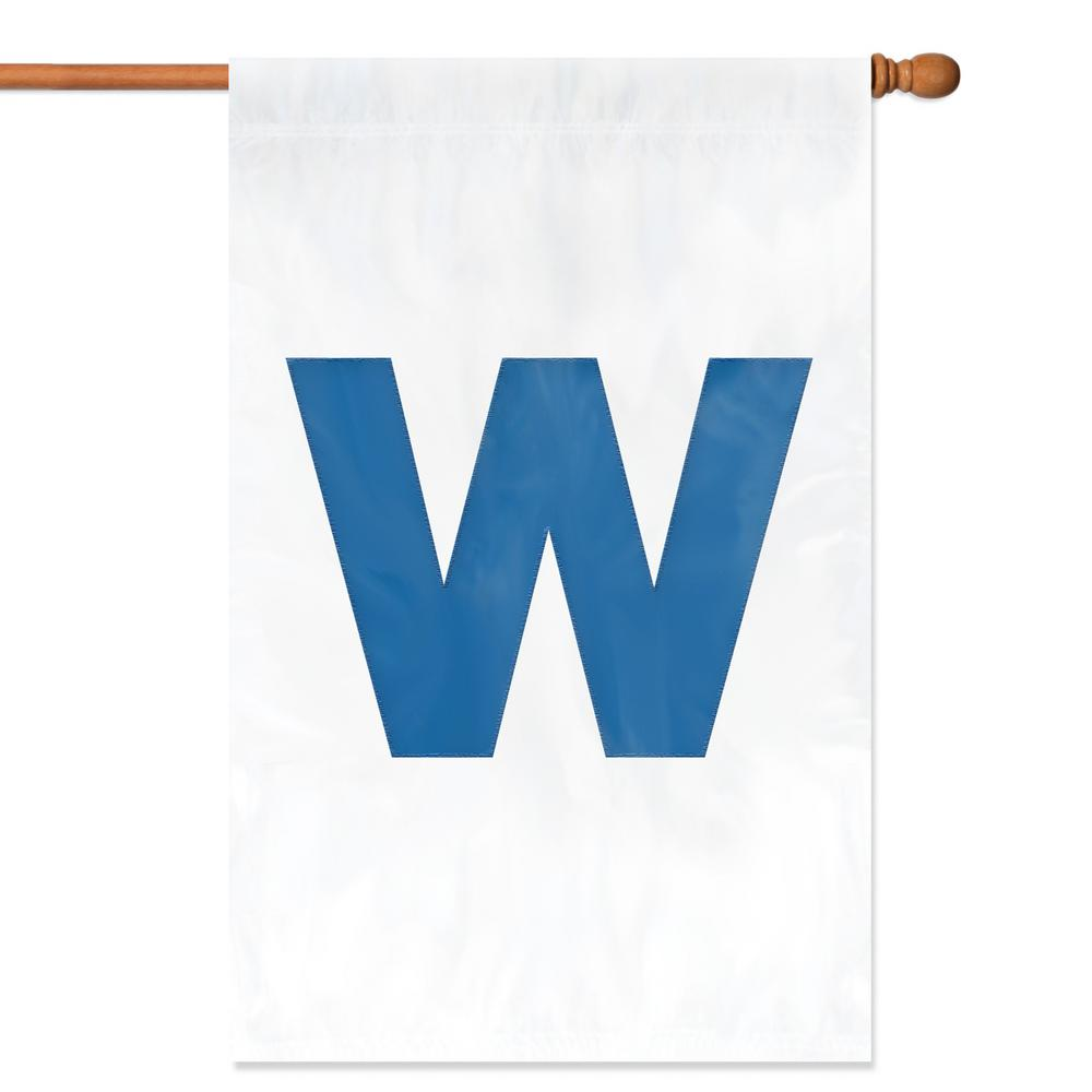 "Chicago Cubs ""W"" Applique Banner Flag"