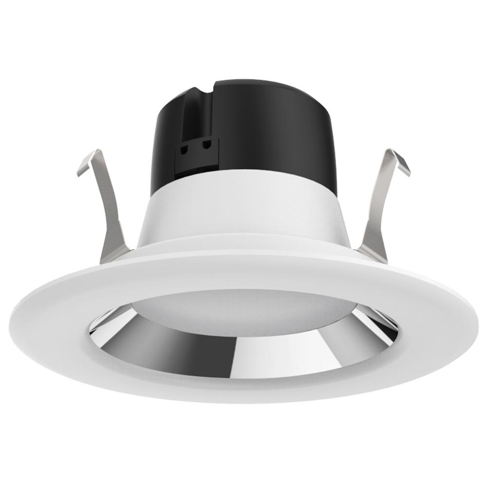 ProLED 4 in. White Integrated LED Recessed Ceiling Light Dimmable JA8/Title