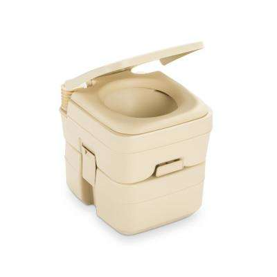 5.0 Gal. SaniPottie 966 Portable Toilet Bellow-Operated Flush in Parchment