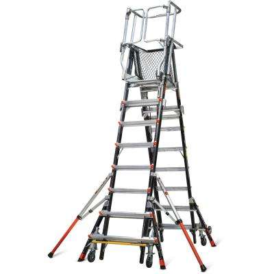 8 ft.-14 ft. Fiberglass 375 lbs. Rated Type IAA Adjustable Safety Cage