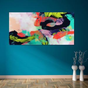 ''Colorful'' Frameless Free Floating Tempered Art Glass by EAD Art Coop Wall Art