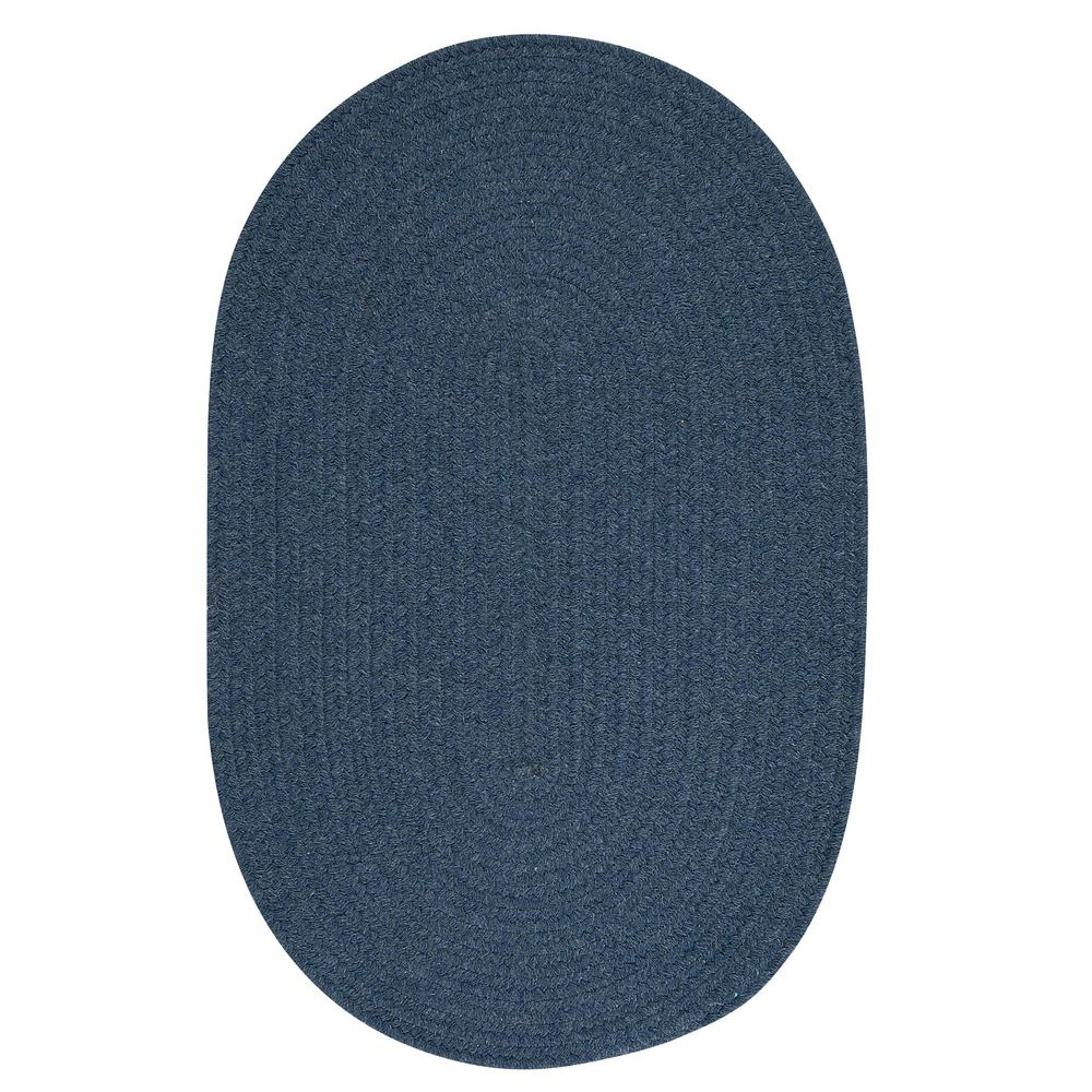 Home Decorators Collection Edward Blue 8 Ft X 8 Ft Round