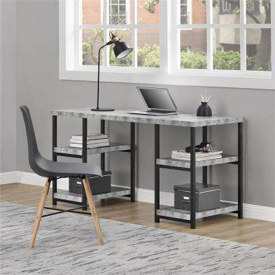 Concrete Gray Ashlar Desk