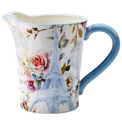Beautiful Romance 3.5 qt. Multi-Colored Pitcher
