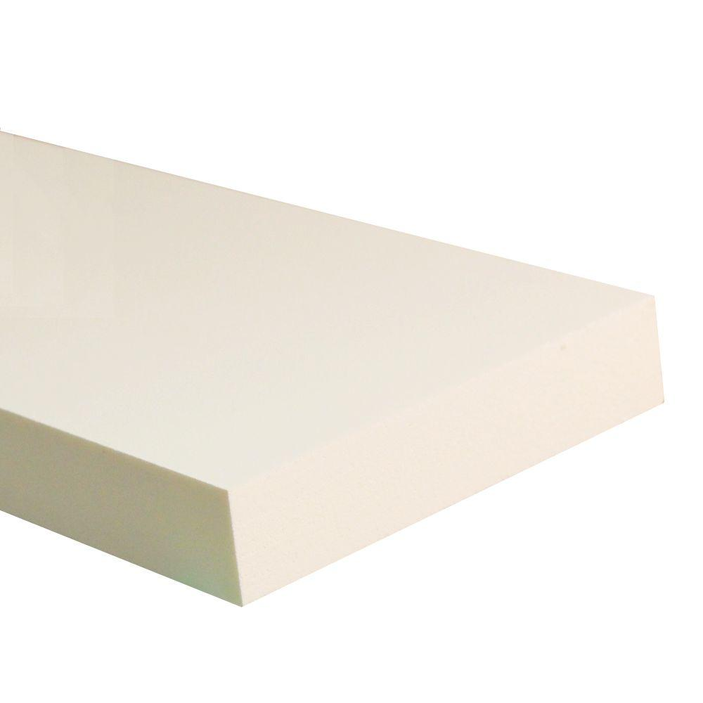 3/4 in. x 3-1/2 in. x 8 ft. White PVC Trim