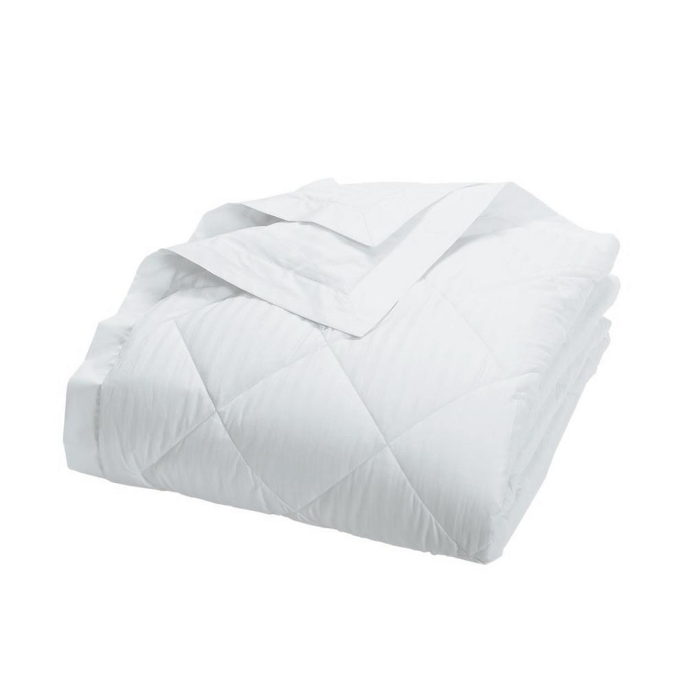 Legends Damask Stripe PrimaLoft Down Alternative White Twin Blanket