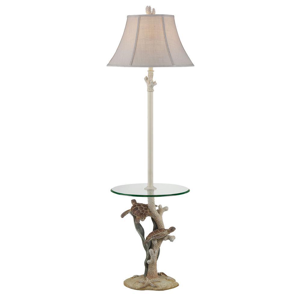 63 in. Ivory Indoor Floor Lamp