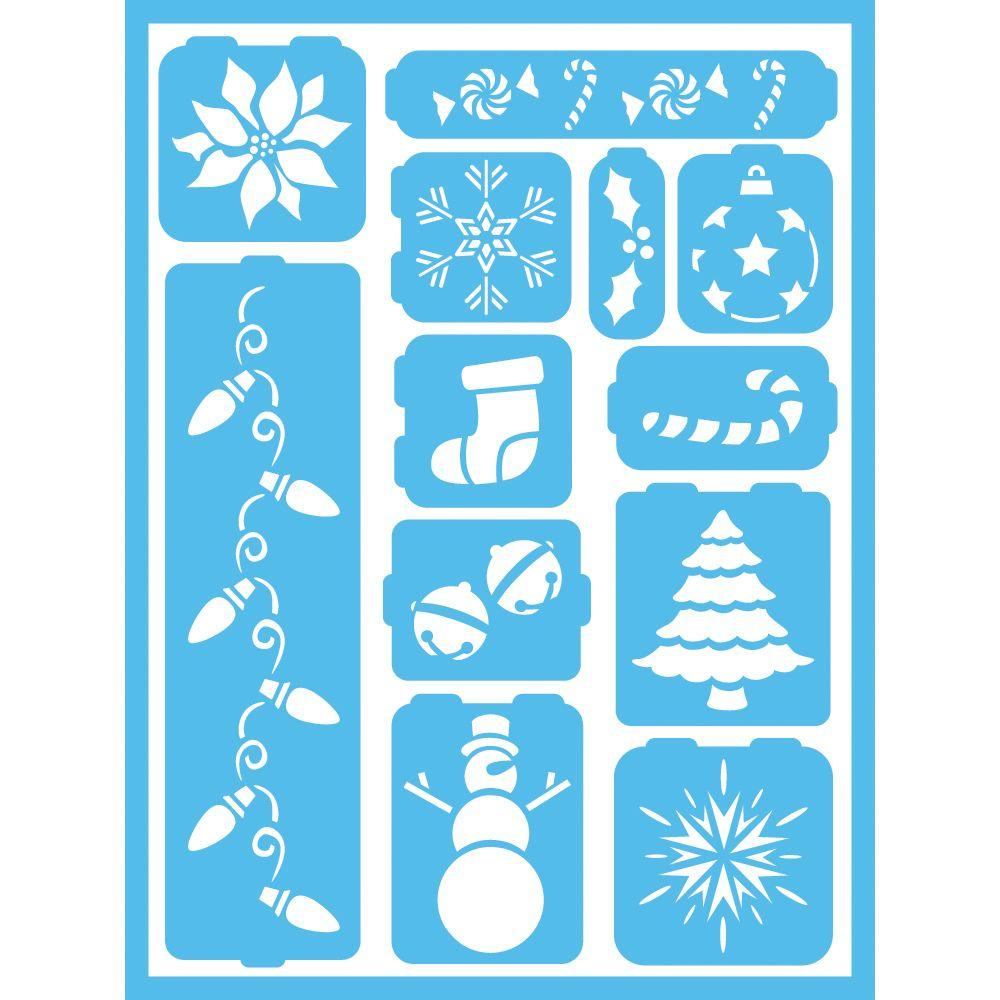 Americana Holiday Cheer Self-Adhesive Stencil