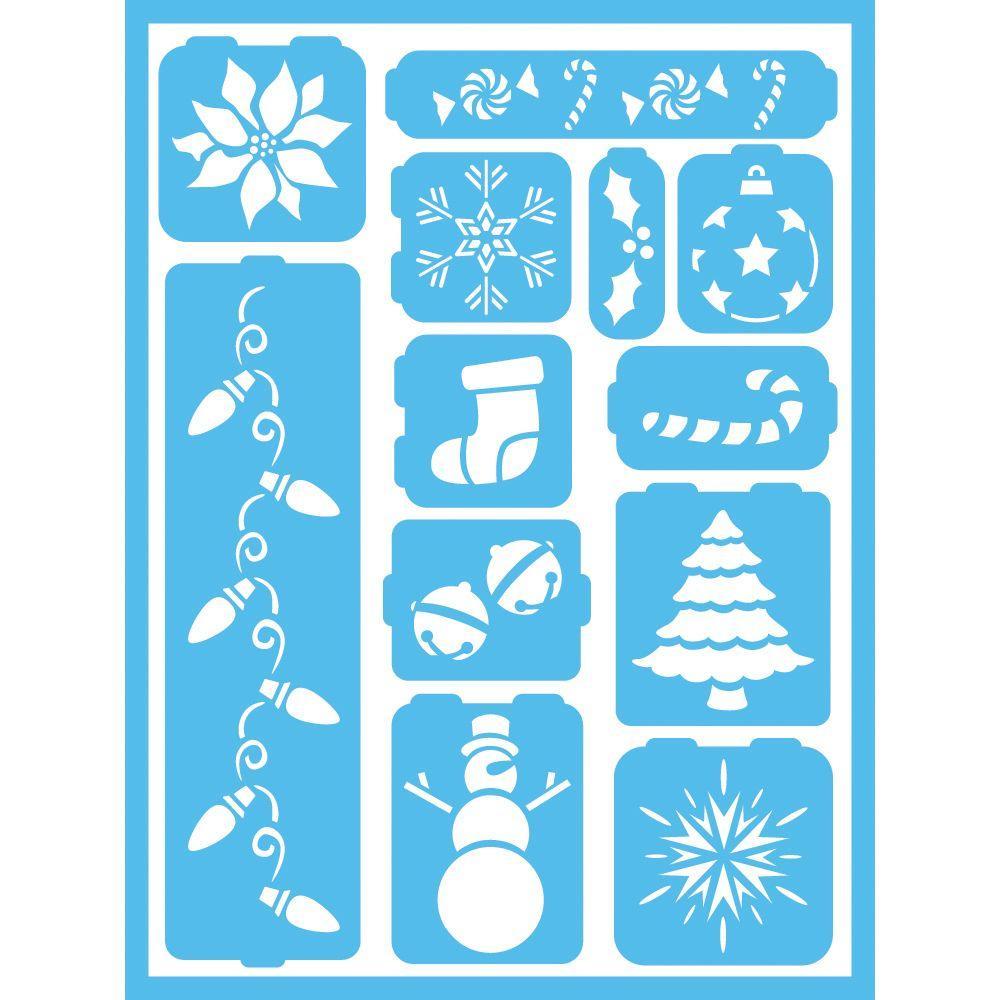 Holiday Cheer Self-Adhesive Stencil