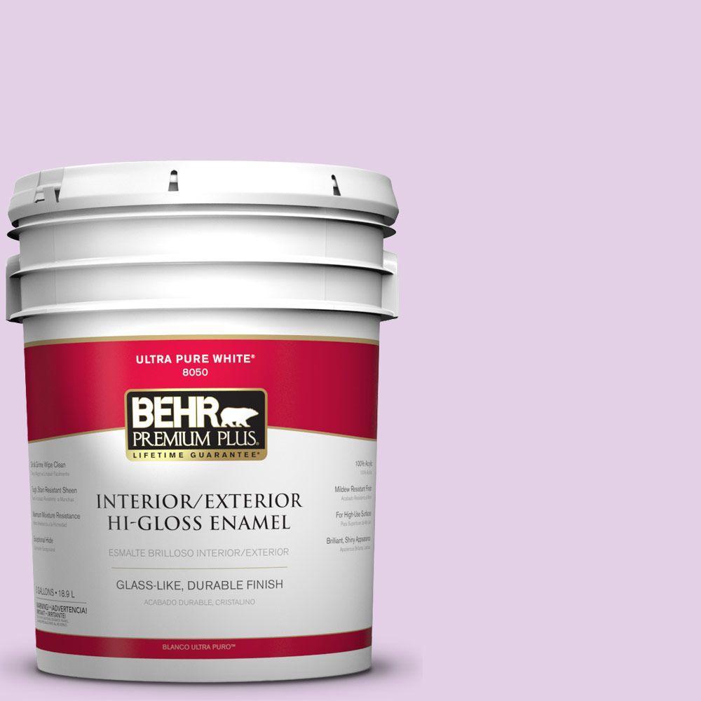 BEHR Premium Plus 5-gal. #P100-2 Sweet Romance Hi-Gloss Enamel Interior/Exterior Paint