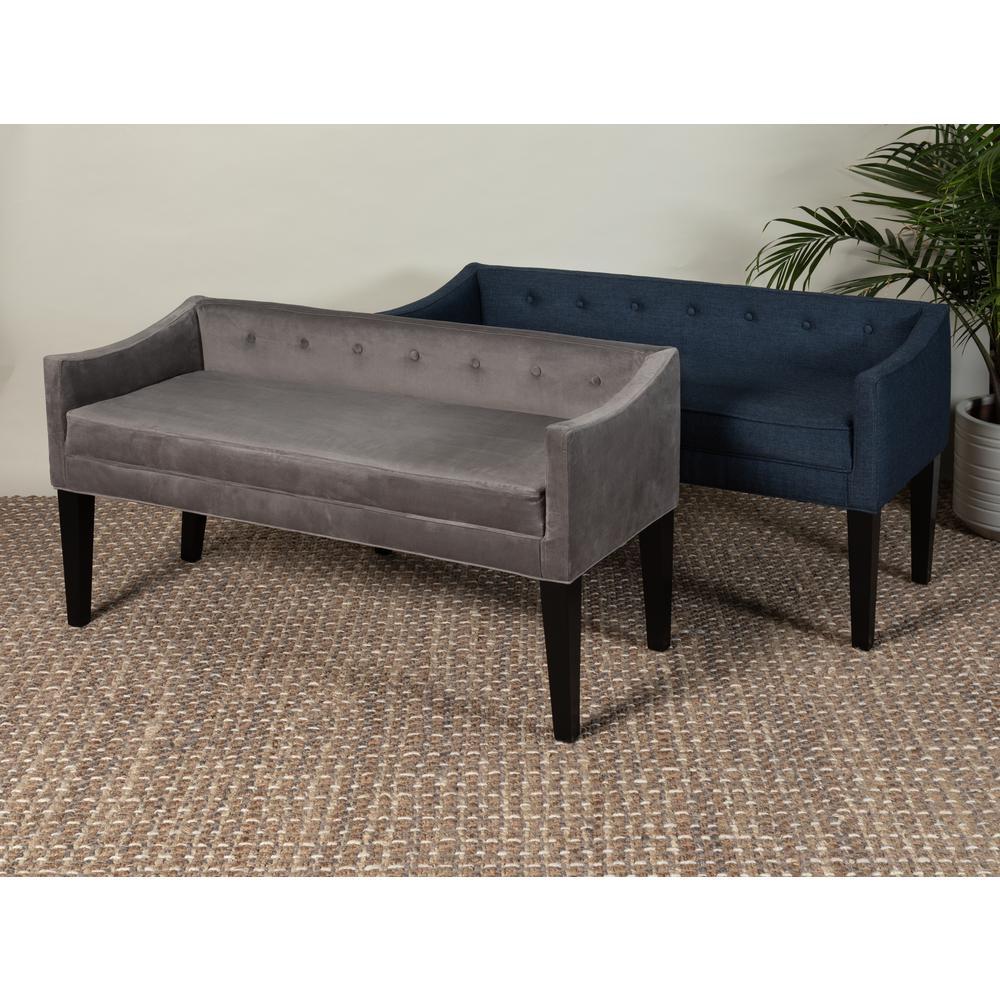 Leffler Home 13000-02-46-01 Whitney Transitional Long Upholstered Bench Blue