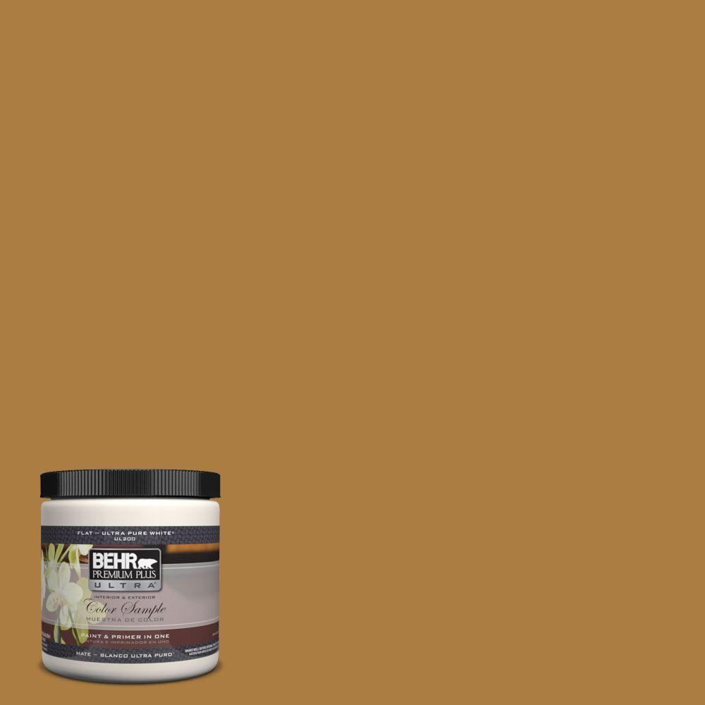 BEHR Premium Plus Ultra 8 oz. #300D-6 Medieval Gold Interior/Exterior Paint Sample
