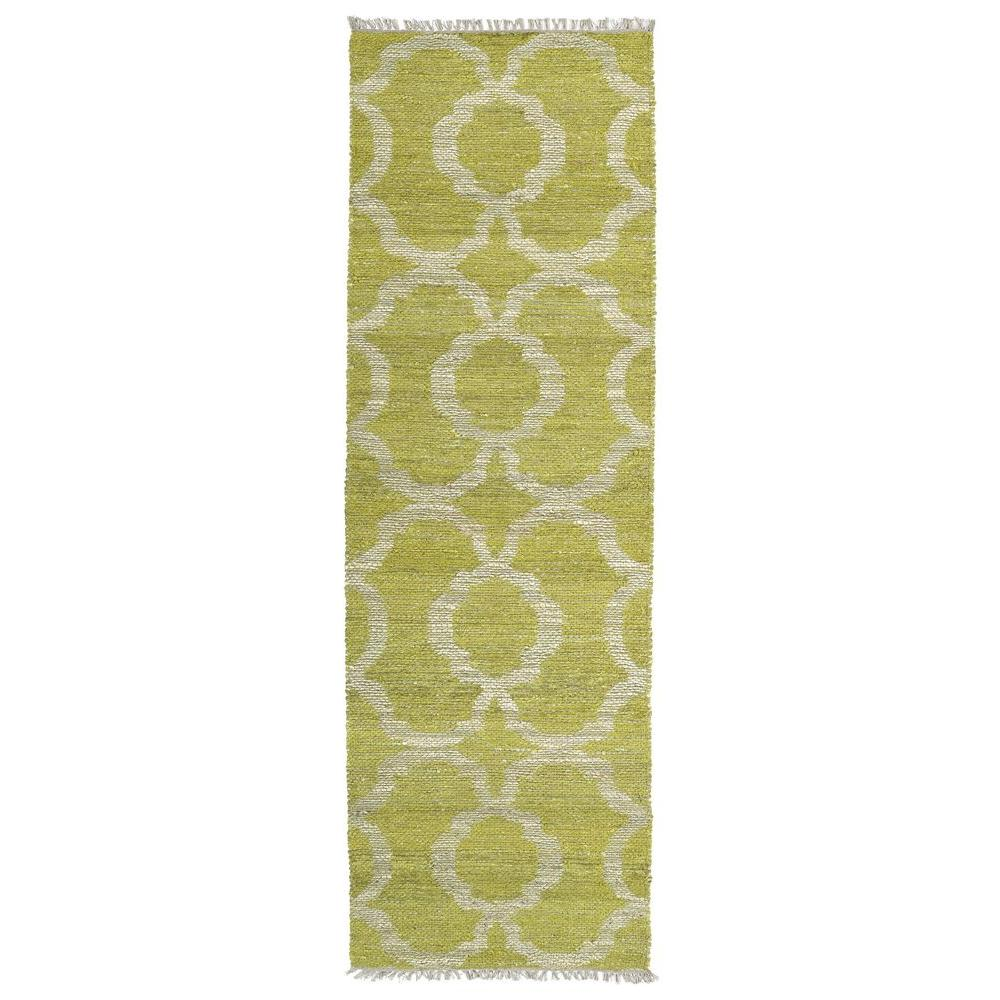 Lime Green Rugs For Kitchen: Kaleen Kenwood Lime Green 2 Ft. 6 In. X 8 Ft. Double Sided
