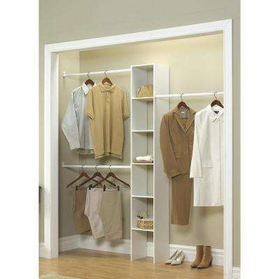 11.5 in. D x 12 in. W x 83 in. H White Custom Laminate Closet System Organizer