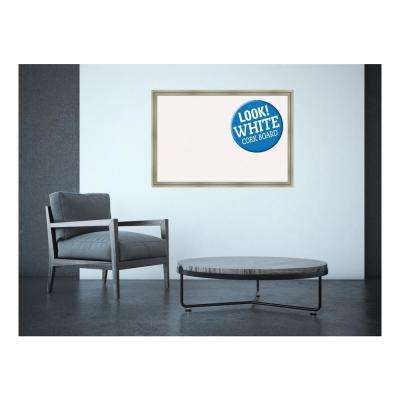 Framed White Cork Memo Board