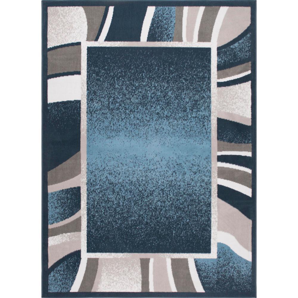 Premium Blue 7 ft. 8 in. x 10 ft. 7 in. Indoor Area Rug