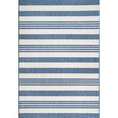 Outdoor Robin Blue 5 ft. 3 in. x 7 ft. 6 in. Area Rug