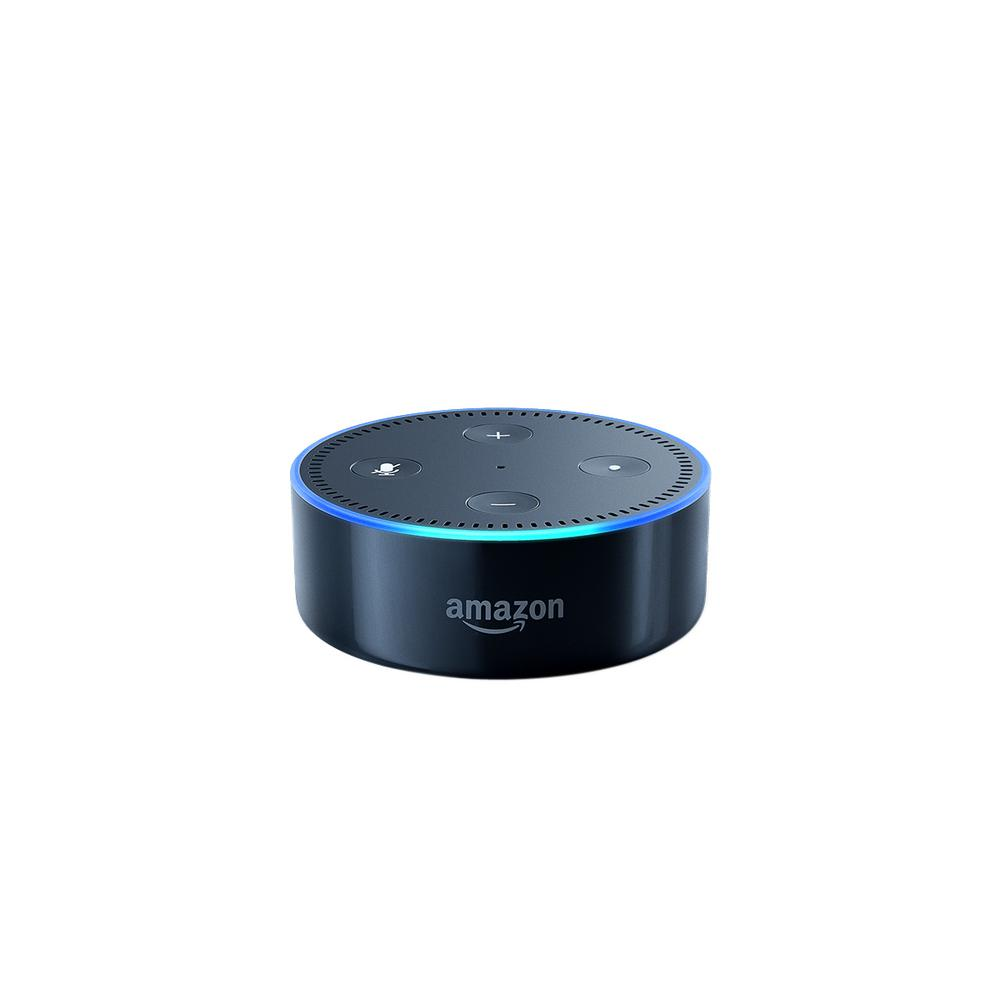 amazon echo dot black 4987525 the home depot. Black Bedroom Furniture Sets. Home Design Ideas