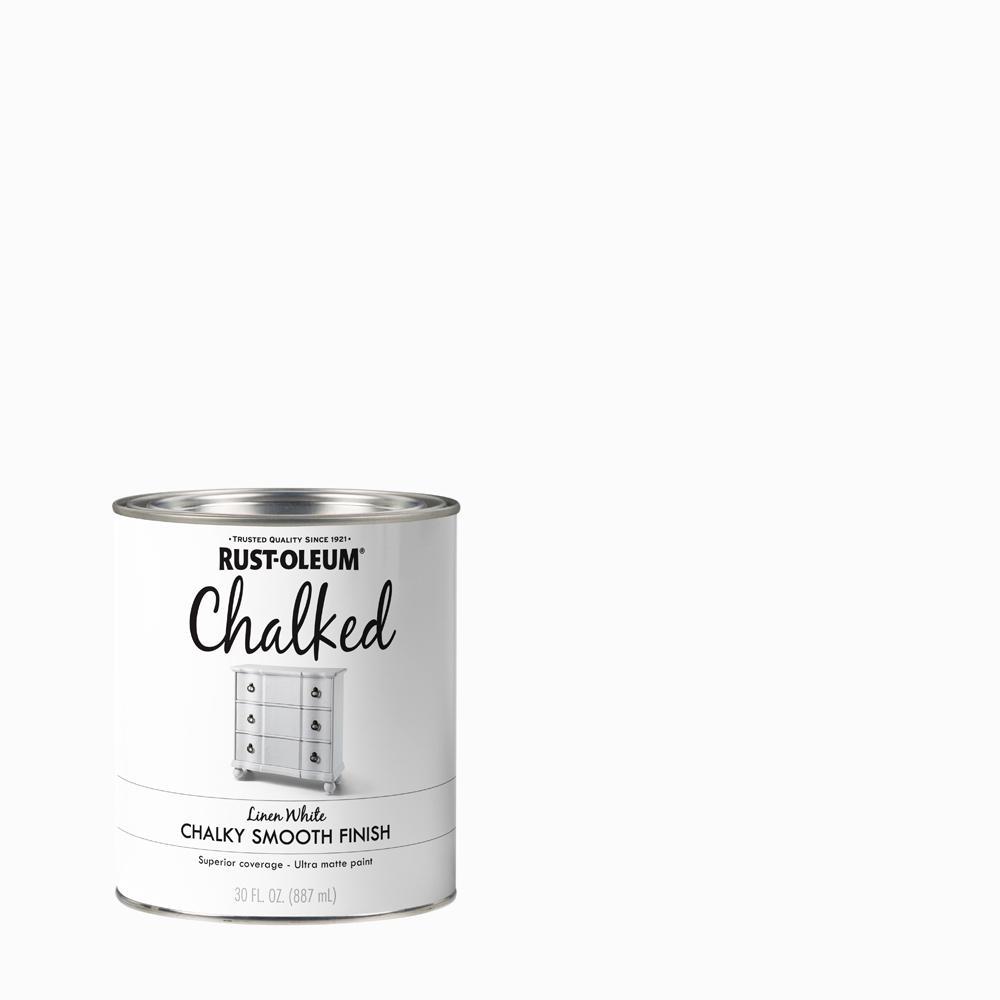 Rust Oleum 30 Oz Linen White Ultra Matte Interior Chalked Paint