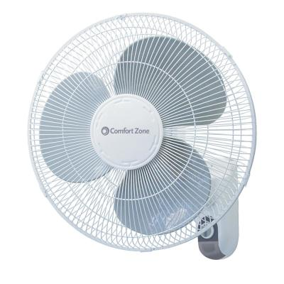 16 in. White Oscillating 3-Speed Wall-Mount Fan with Adjustable Tilt