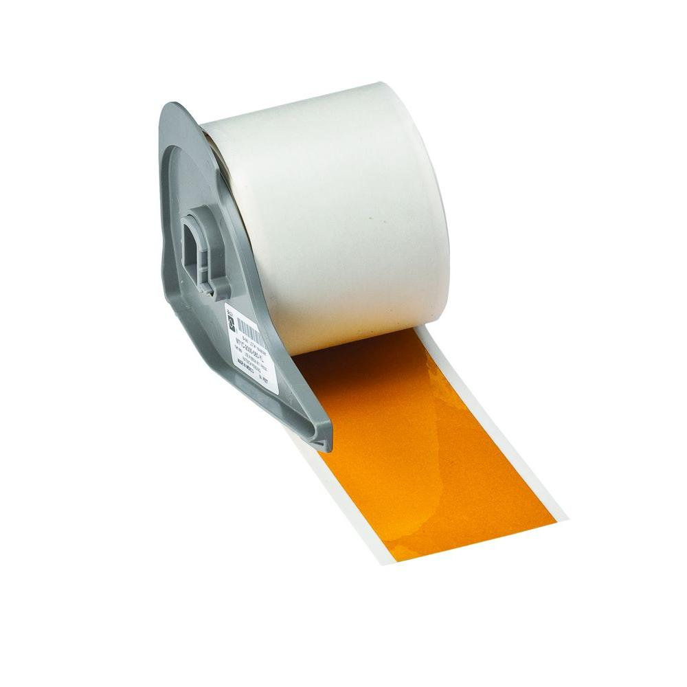 BMP71 B-595 2 in. x 50 ft. Indoor/Outdoor Vinyl Yellow Film