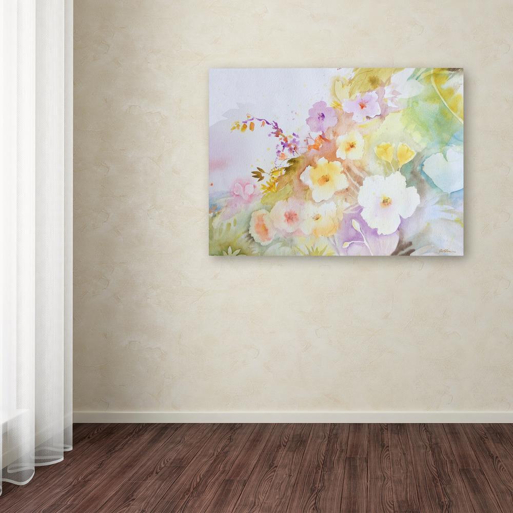 """Trademark 14 in. x 19 in. """"Garden Magic"""" by Sheila Golden..."""