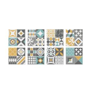 Vintage Cadiz 9 in. W x 9 in. H Peel and Stick Self-Adhesive Decorative Mosaic Wall Tile Backsplash (4-Pack)