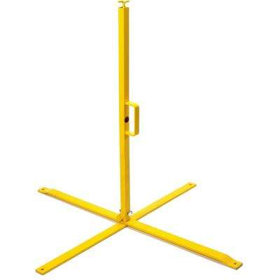 39 in. OSHA Folding Yellow Steel Stanchions (2-Pack)