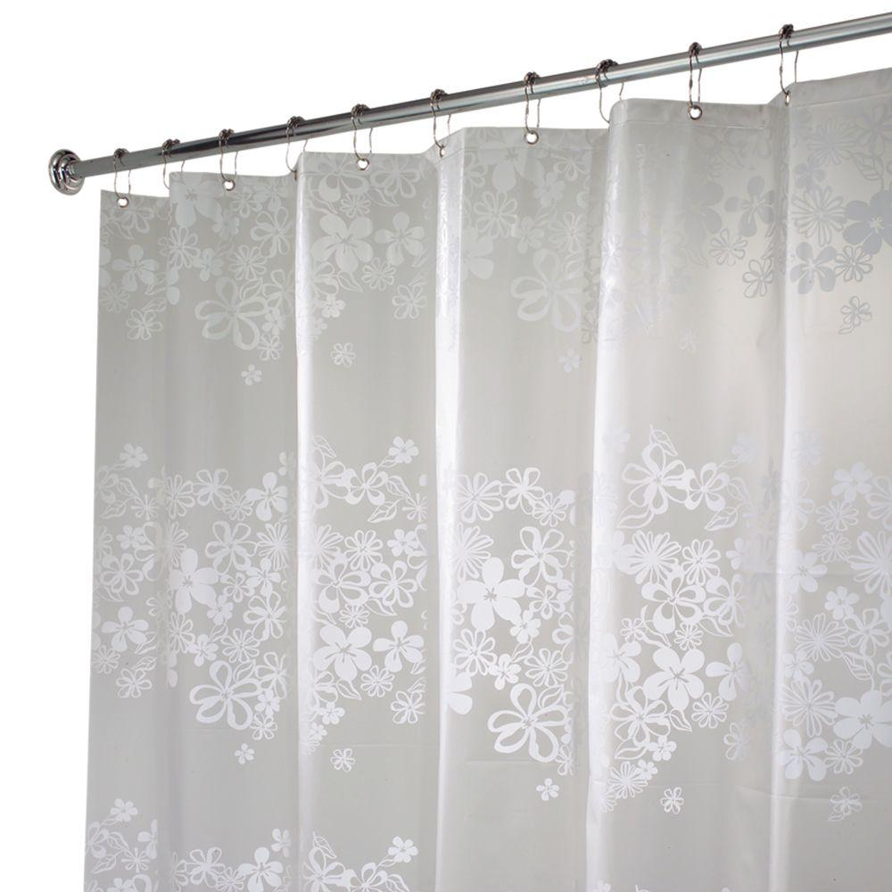 interDesign Fiore EVA Shower Curtain in White