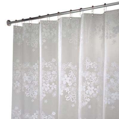 Fiore EVA Shower Curtain in White