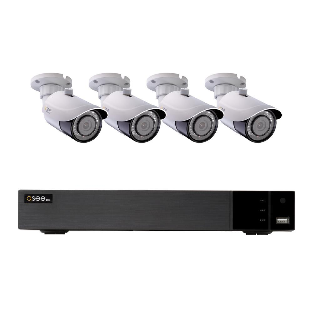 8-Channel 4K 2TB H.265 NVR Security Surveillance System with (4) 8MP IP Bullet Cameras 8-Channel 4K 2TB H.265 NVR Security Surveillance System with (4) 8MP IP Bullet Cameras