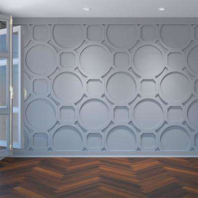 3/8 in. x 30 in. x 23-3/8 in. Large Hemingway White Architectural Grade PVC Decorative Wall Panels