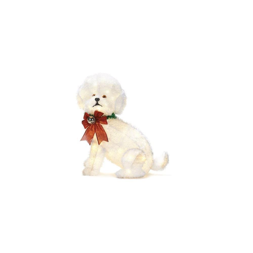 Dog Fluffy Pre-Lit Christmas Yard Decoration Light LED