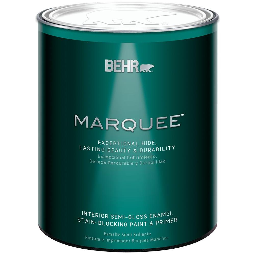 behr marquee 1 qt medium base semi gloss enamel interior paint