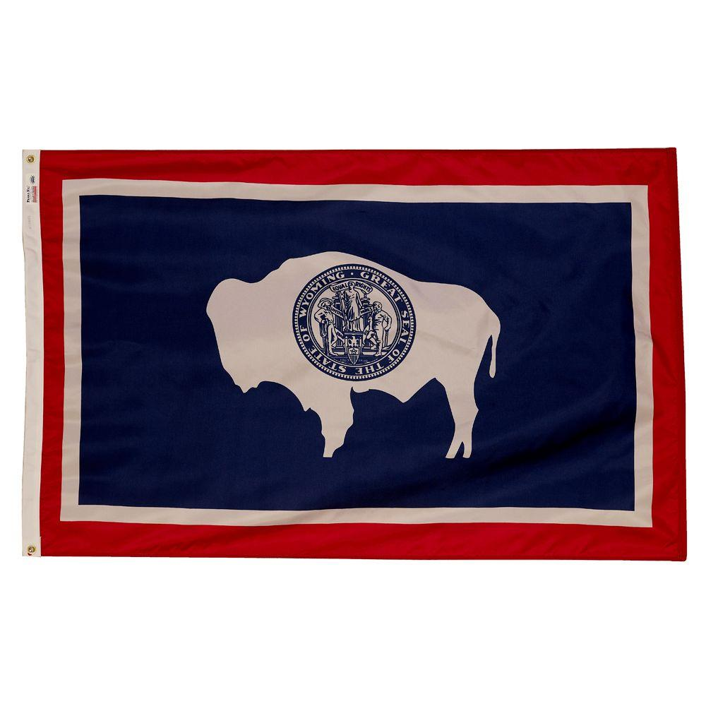Valley Forge Flag 3 Ft X 5 Ft Nylon Wyoming State Flag Wy3 The