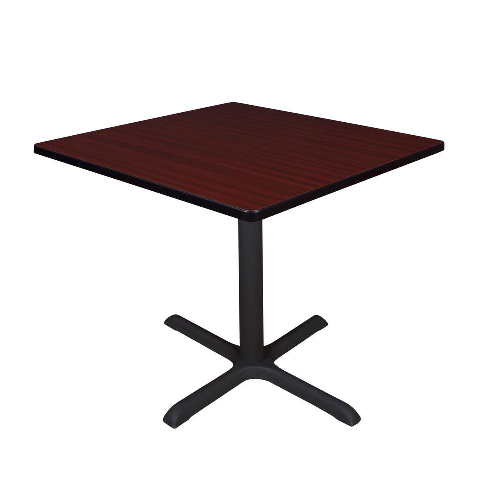 Cain Mahogany Square 42 in. Breakroom Table