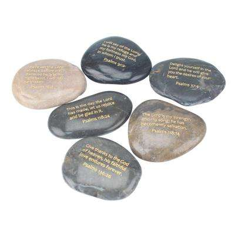 Set of 6 Psalm Rocks