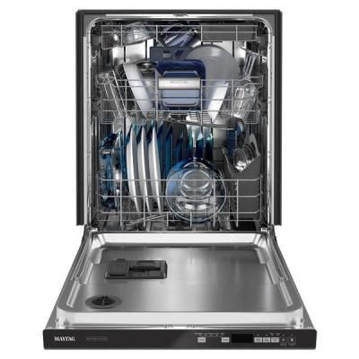 24 in. Top Control Built-in Tall Tub Dishwasher in Black with Dual Power Filtration, ENERGY STAR