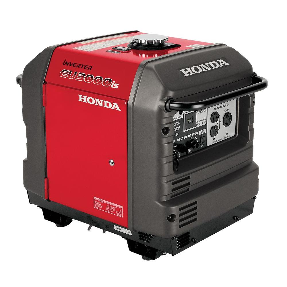 3000-Watt Gasoline Powered Electric Start Portable Generator with Eco-Throttle
