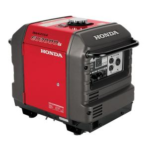 Honda 3,000-Watt Super Quiet Gasoline Powered Electric Start Inverter Generator with Eco-Throttle and Oil Alert by Honda
