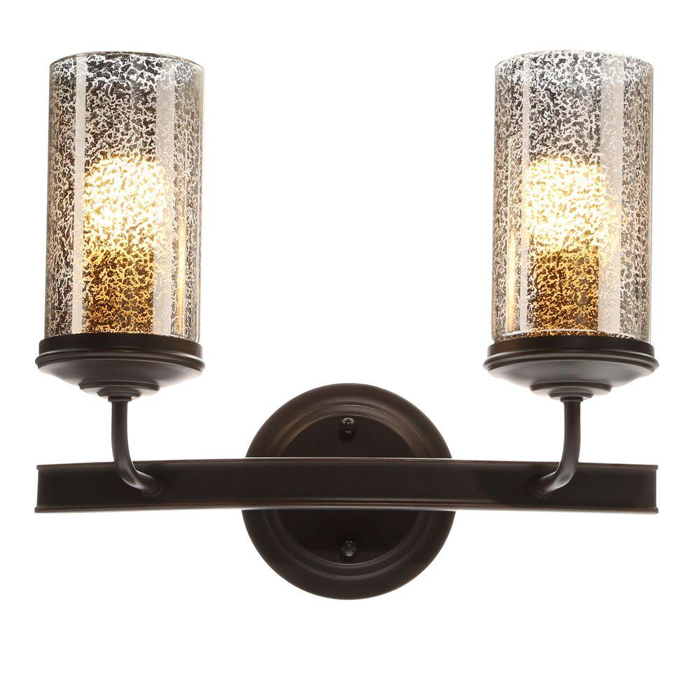 Sea Gull Lighting Sfera Light Autumn Bronze WallBath Vanity Light - 2 light bathroom vanity fixture
