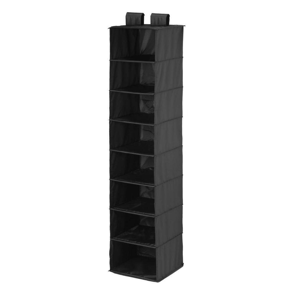 Honey-Can-Do 8-Shelf Hanging Black Organizer