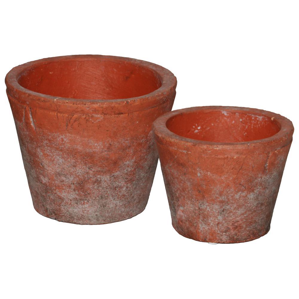 Vermilion Washed Finish Ceramic Decorative Vase