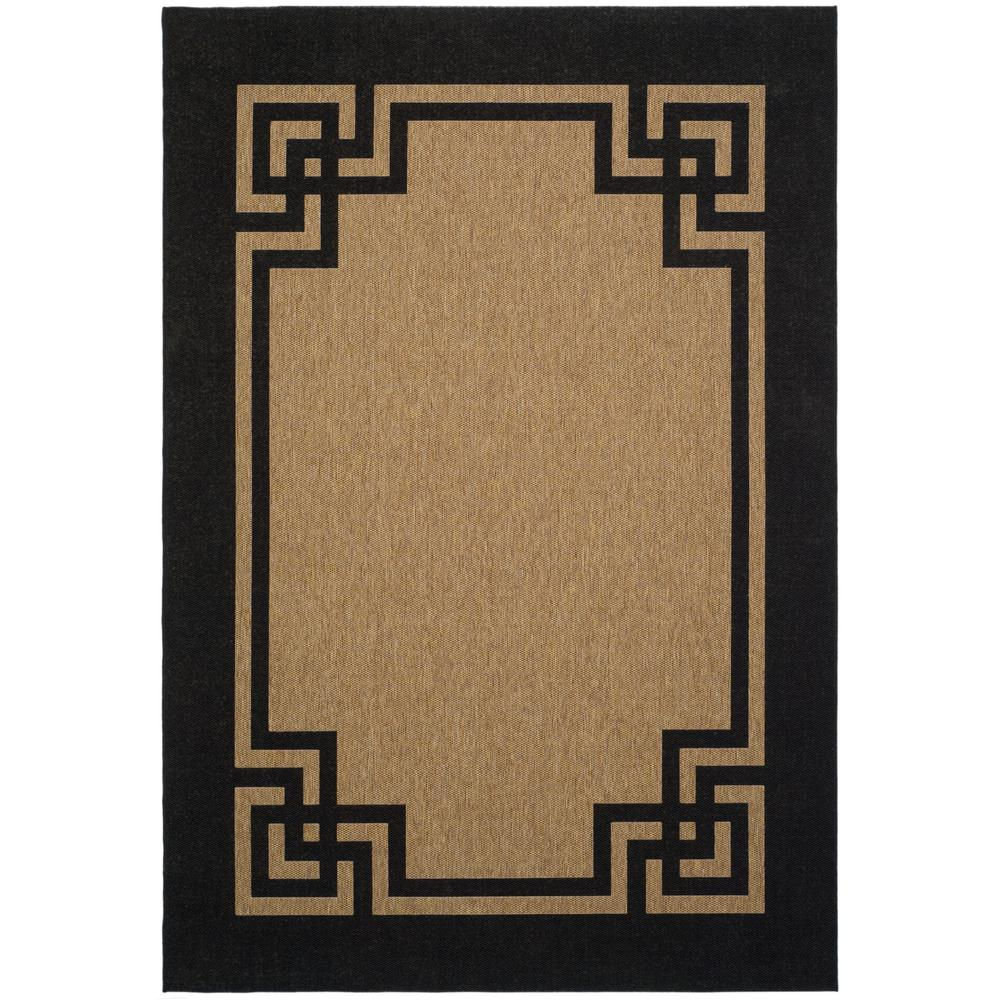 Martha Stewart Deco Frame Dark Beige/Black 4 ft. x 5 ft.