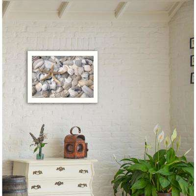 """14 in. x 20 in. """"Starfish and Seashell"""" by Lori Deiter, Printed Framed Wall Art"""