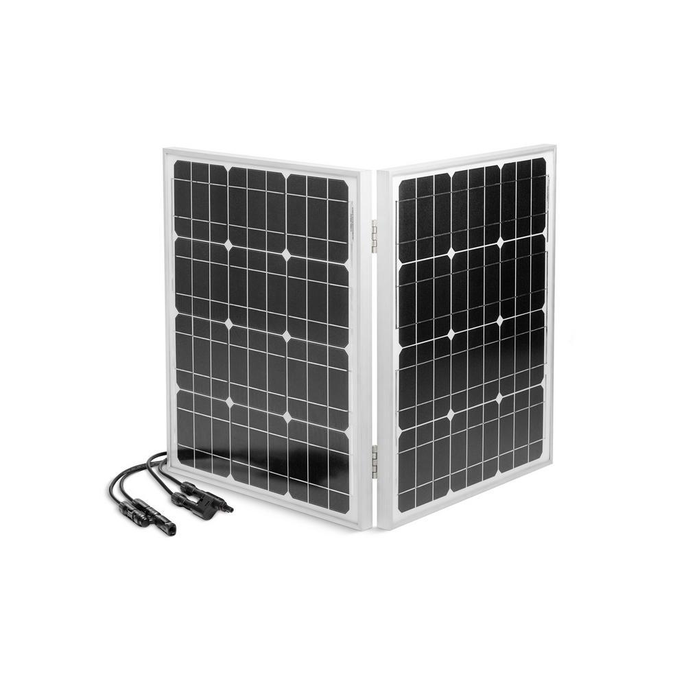 60-Watt Folding Solar Panel with Cable for enCUBE1.8 Portable Solar Inverter Generator