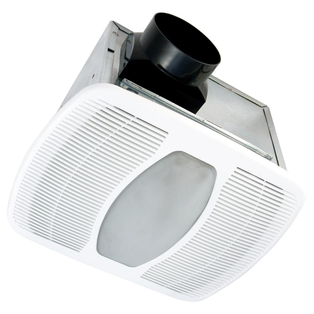 White 100 CFM Dual Speed, 2 Sone Ceiling Exhaust Bath Fan