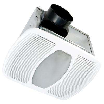 White 50 CFM Single Speed, 0.3 Sone Ceiling Exhaust Bath Fan with LED Light, ENERGY STAR